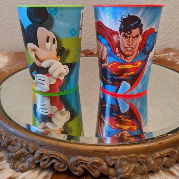 Hallmark Disney DC Comics Mickey Superman Tumblers